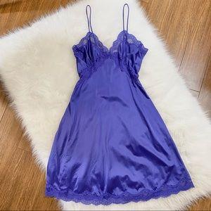 Vtg Purple Slip